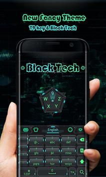 Black Tech GO Keyboard Theme apk screenshot