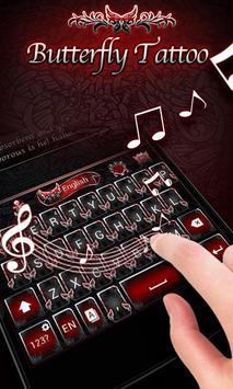 Butterfly Tattoo KeyboardTheme apk screenshot