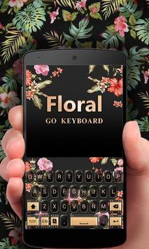 Floral GO Keyboard Theme Emoji poster