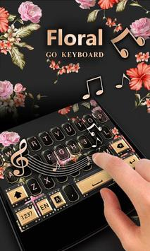 Floral GO Keyboard Theme Emoji apk screenshot