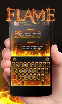 Flame GO Keyboard Theme Emoji poster