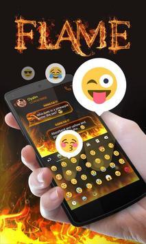 Flame GO Keyboard Theme Emoji apk screenshot