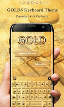 Gold Pro GO Keyboard Theme poster