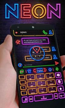 Neon GO Keyboard Theme & Emoji apk screenshot