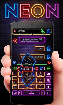 Neon GO Keyboard Theme & Emoji poster