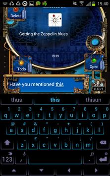 Steampunk GOSMS Pro PopUp Blue poster