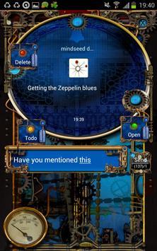 Steampunk GOSMS Pro PopUp Blue apk screenshot