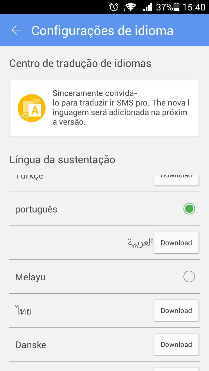 GO SMS Pro Portuguese language for Android - APK Download