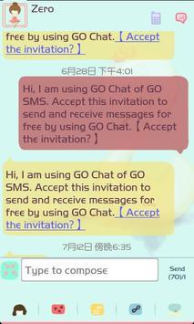 ZLOTUS swan GO SMS Theme poster