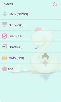 ZLOTUS swan GO SMS Theme apk screenshot