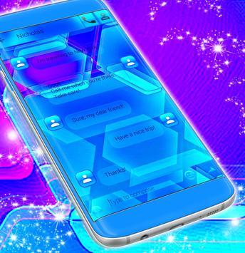 Blue Pattern SMS screenshot 3