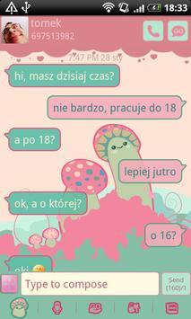 GO SMS Crazy Mushrooms Theme poster