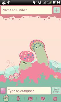 GO SMS Crazy Mushrooms Theme apk screenshot