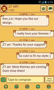 CuteLion Theme GO SMS poster