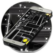 Black Theme Sms icon