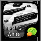 (FREE)GO SMS BLACK&WHITE THEME icon