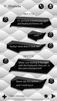 (FREE)GO SMS BLACK&WHITE THEME apk screenshot