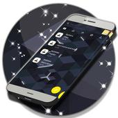 3D Black SMS Theme 2018 icon