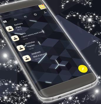 Black SMS Free 2017 Theme apk screenshot