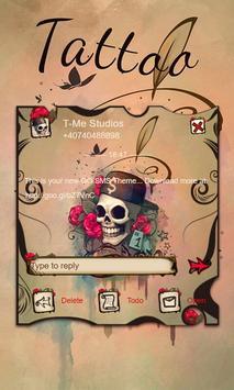 Skull Tattoo SMS Theme poster
