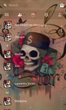 Skull Tattoo SMS Theme apk screenshot