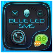 Blue Alien SMS Theme icon