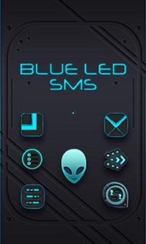 Blue Alien SMS Theme poster