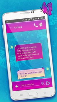 Cute Butterfly SMS Theme poster
