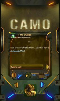 Camo GO SMS poster