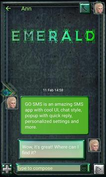 Metallic Emerald SMS Theme apk screenshot