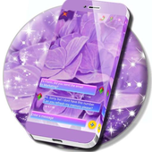 Purple Flowers SMS Theme icon