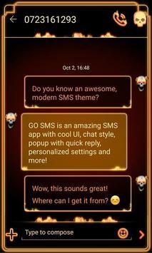 GO SMS Fire Soul apk screenshot