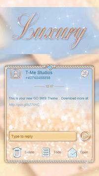 Luxurious Sparkles SMS Theme poster