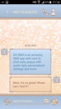 Luxurious Sparkles SMS Theme apk screenshot