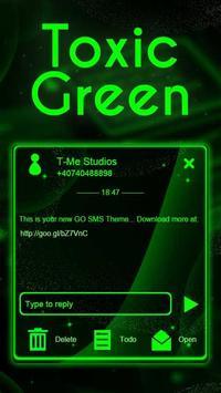 Toxic Neon Green SMS Theme poster