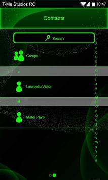 Toxic Neon Green SMS Theme apk screenshot