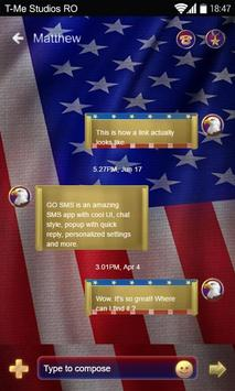 Fourth of July SMS Theme apk screenshot
