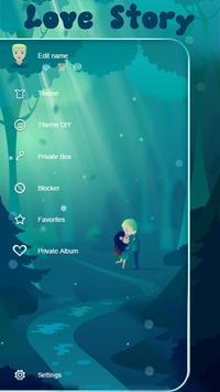 Love Story SMS Theme apk screenshot