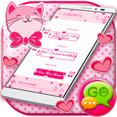 Pink Hearts SMS Theme icon