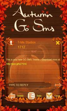 Pumpkin Theme GO SMS poster