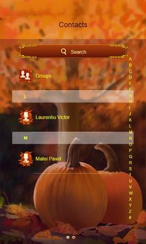 Autumn Harvest SMS Theme apk screenshot