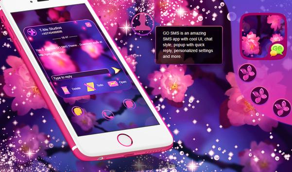 Purple Flowers GO SMS apk screenshot
