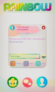 Rainbow Colors SMS Theme poster