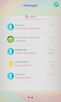 Rainbow Colors SMS Theme apk screenshot