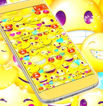 Emoji 2017 SMS Free Theme screenshot 3