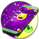 Emoji 2017 Purple SMS Theme icon