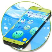 Emoji 2017 Waterfall SMS Theme icon