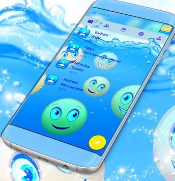 Emoji 2017 Waterfall SMS Theme poster