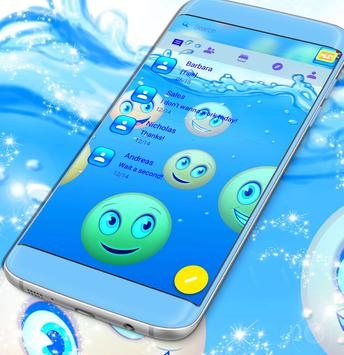 Water Emoji SMS Theme poster