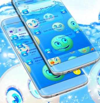 Water Emoji SMS Theme screenshot 1